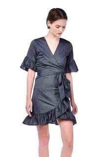 🚚 TEM Hyde Cross Front Ruffle Dress