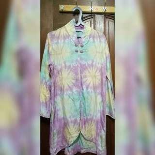 Atasan Baju Motif Bunga Rainbow