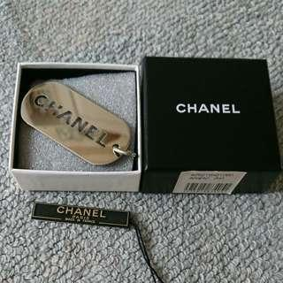 AUTHENTIC CHANEL SILVER LOGO PENDANT - FOR NECKLACE CHAIN - SIZE : 6 x 3 cm APPROX. - [PREORDER ITEM]