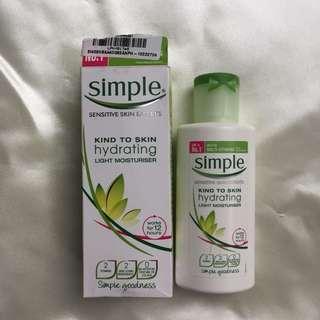 Simple's Hydrating Light Moisturizer