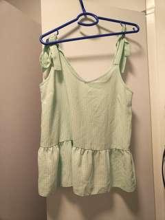 UK brand atmosphere mint green vest