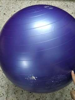 Fitness yoga gym ball purple color 55cm