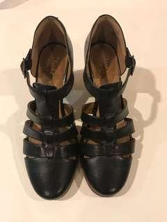 New Clarks Black Heels Casual Office Shoes