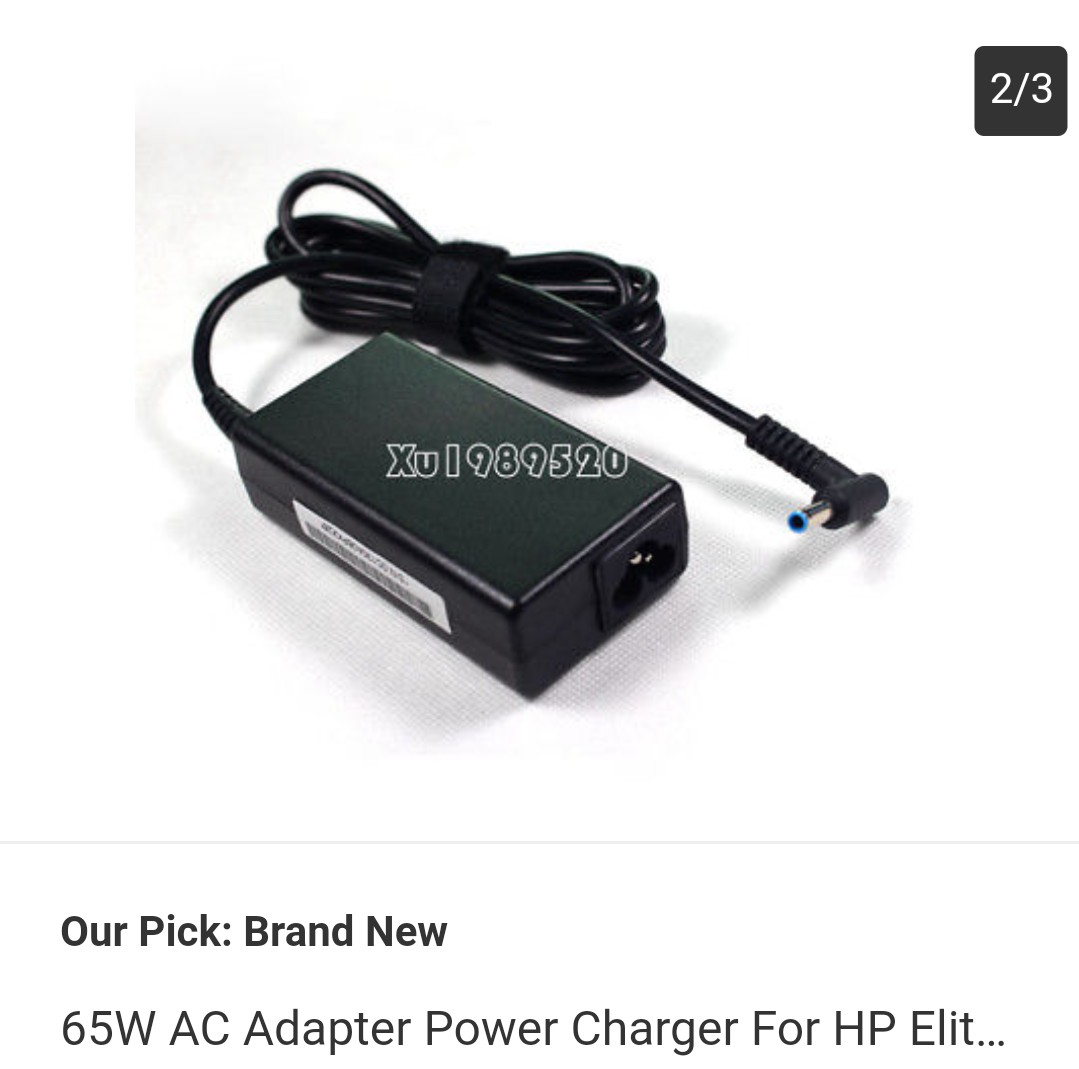 65w AC Adapter Power Charger For HP EliteBook 840 G3 Ppp009c 195v