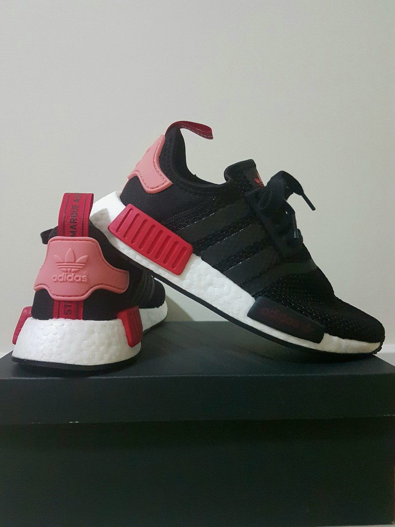 Adidas NMD R1 Female - black tactile rose bold red 676d8ed32b67