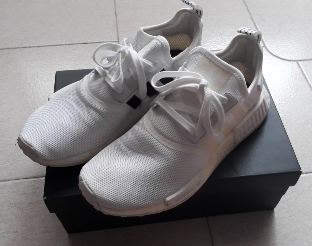 ccaf87d17146 Adidas Originals NMD R1 White-Black (Authentic)