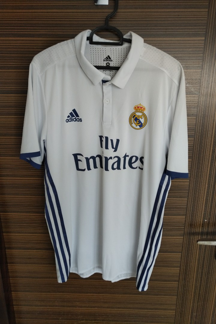 867ffe9d3ee Adidas Real Madrid 2016 17 Home Jersey Adizero Kitroom Player Issue ...