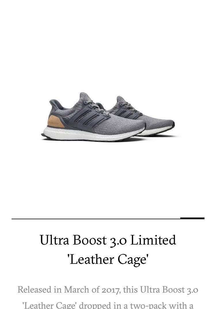 12ce0a79d02bc Adidas Ultra Boost 3.0 Limited Leather Cage