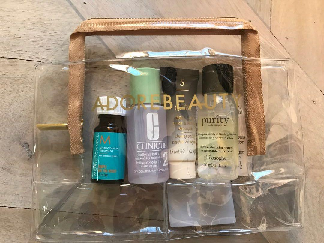Adore Beauty Sample Pack - Oribe, Clinique, Philosophy, Moroccan Oil