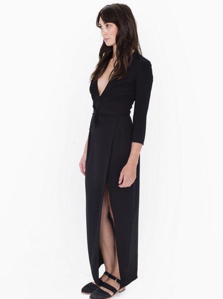 American Apparel Julliard Wrap Dress