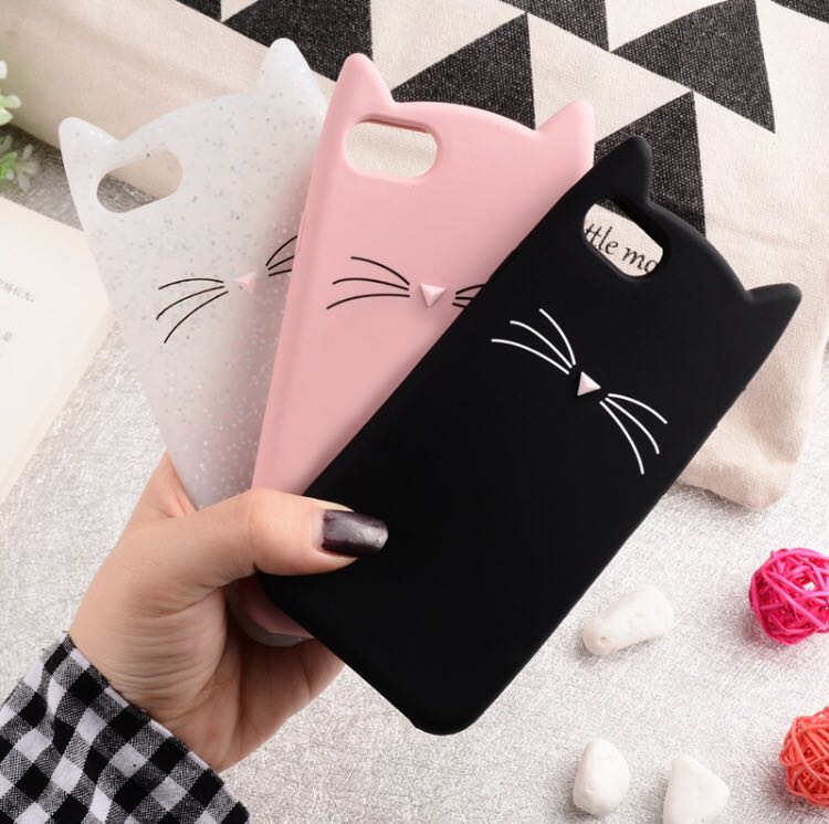 competitive price bd148 86ba5 Animal Cat Ear Phone Cover Case