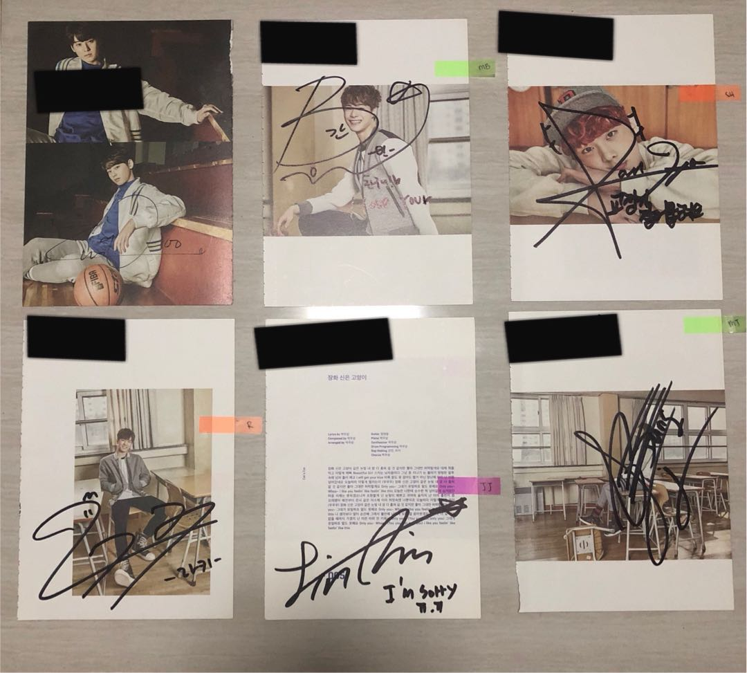 Astro 1st mini album spring up autographed by all members