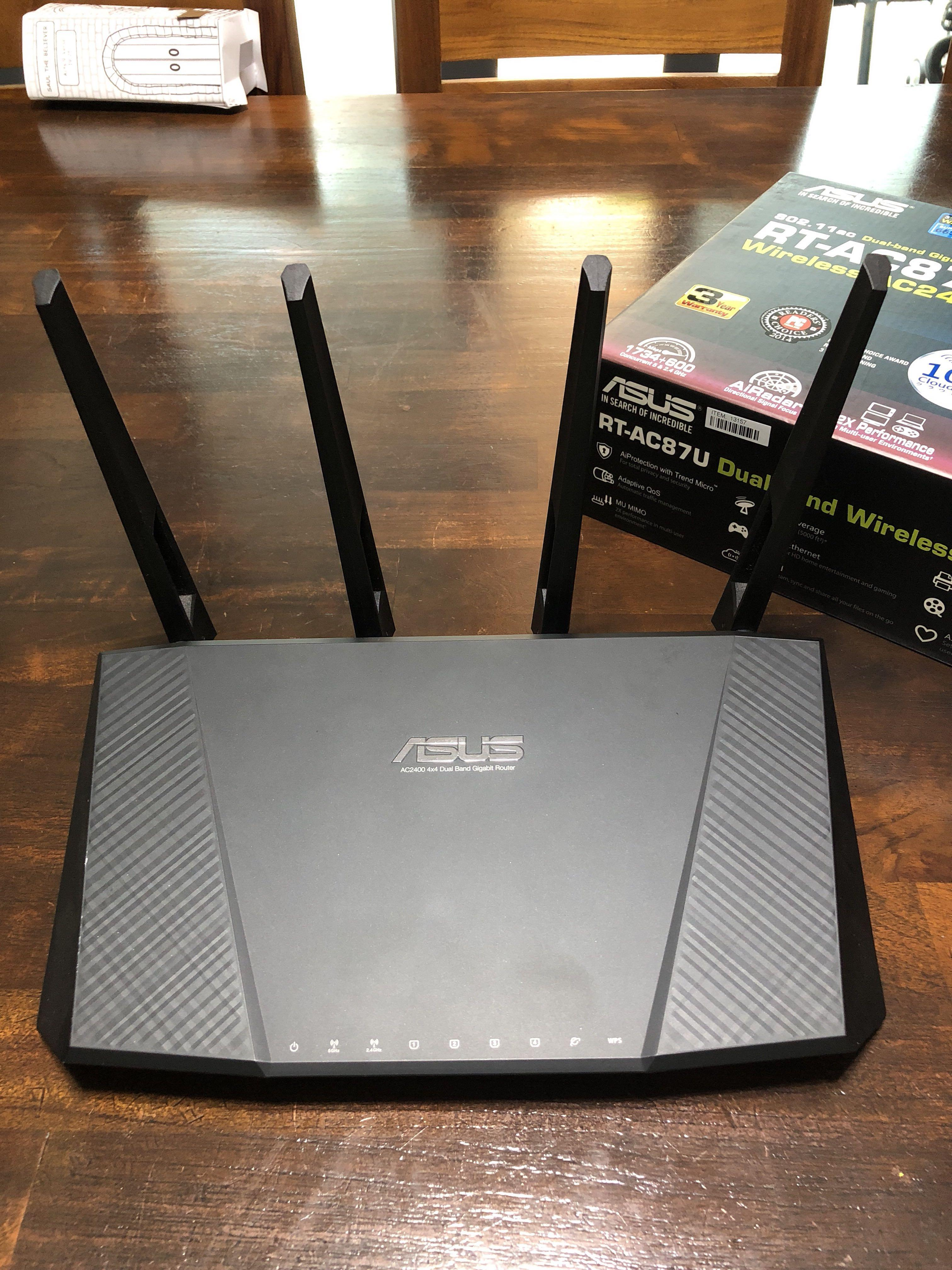 Asus dual band wireless router AC2400 RT-AC87U, Electronics