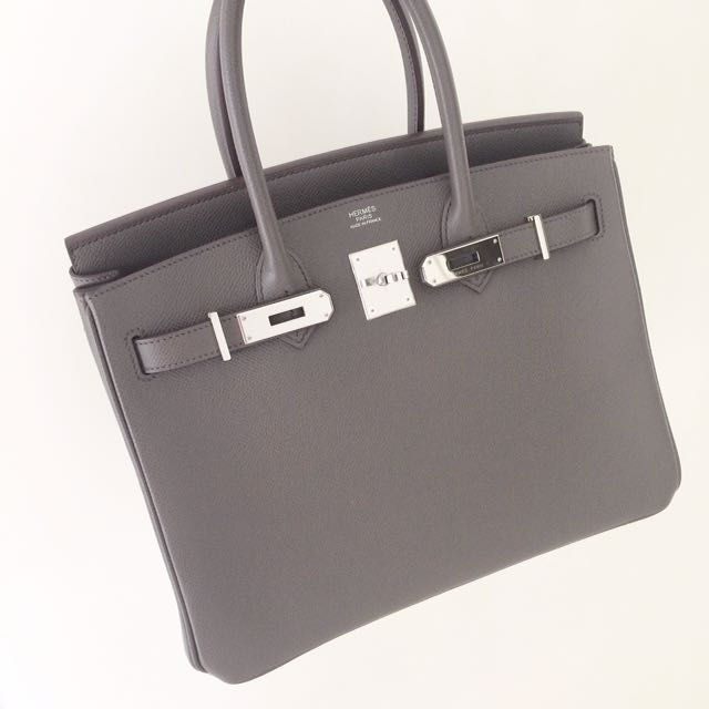 bc8b9825da Authentic Preloved Hermes Birkin 30 Etain Epsom Phw R stamp
