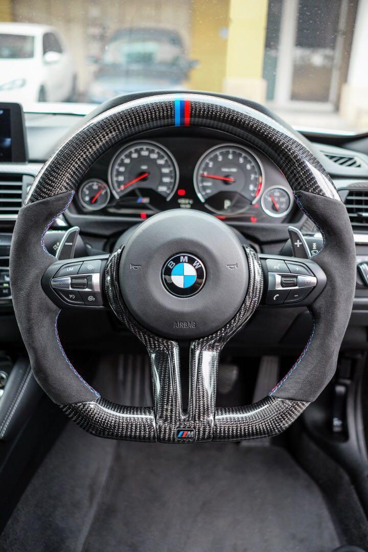 BMW Performance Alcantara Carbon Fiber Steering Wheel