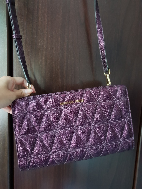 Bn Authentic Michael Kors Crossbody Damson Womens Fashion Bags Selma Medium Lilac Wallets Sling On Carousell