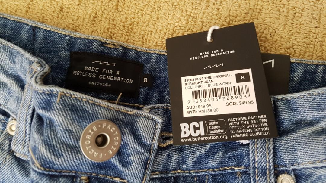 BRAND NEW W/T Womens Factorie Mom Jean's Size 8