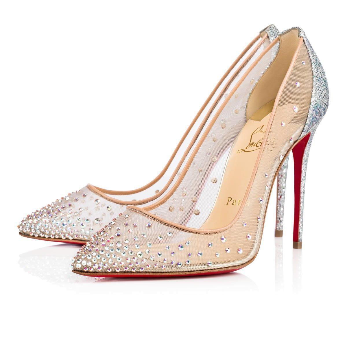 outlet store c6655 dfb92 Classy crystal mesh shiny heels (Christian Louboutin ...