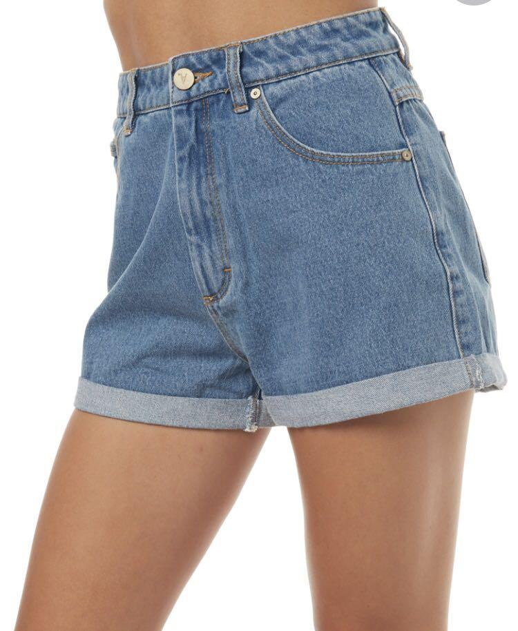 Denim abrand shorts