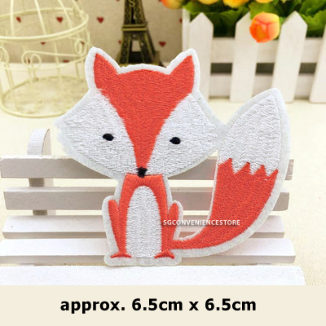 DIY Animal Embroidery Iron On Patch Crafting Fox Applique Sewing Repair  Motif Badge Decoration