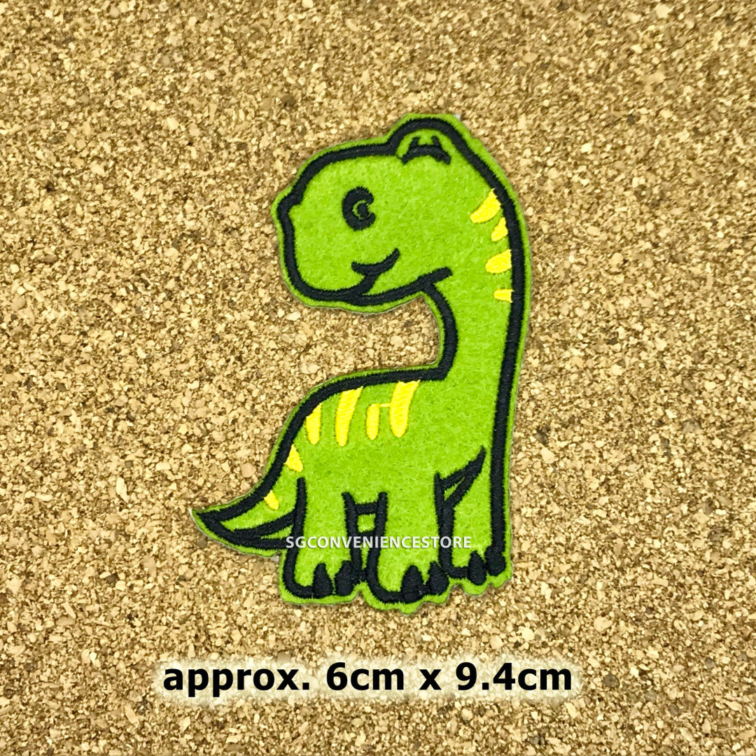 DIY Fabric Embroidery Iron On Patch Crafting Dinosaur Applique Sewing  Repair Motif Badge Decoration