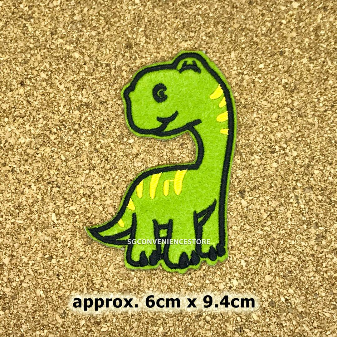 DINOSAUR Embroidered Sew Iron On Cloth Patch Badge APPLIQUE