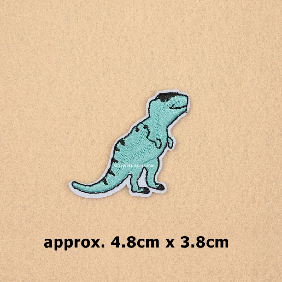 DIY T-Rex Dinosaur Embroidery Iron On Patch Crafting Applique Sewing Repair  Motif Badge Decoration