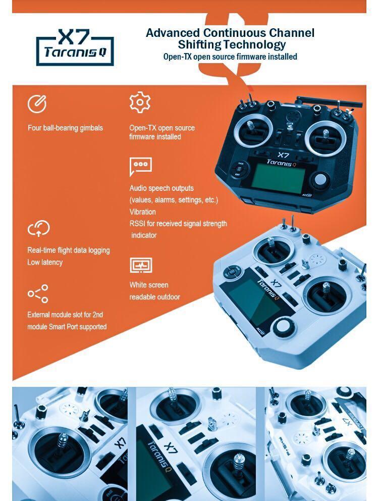 FrSky ACCST Taranis Q X7 Transmitter 2 4G 16CH Mode 2 Blue