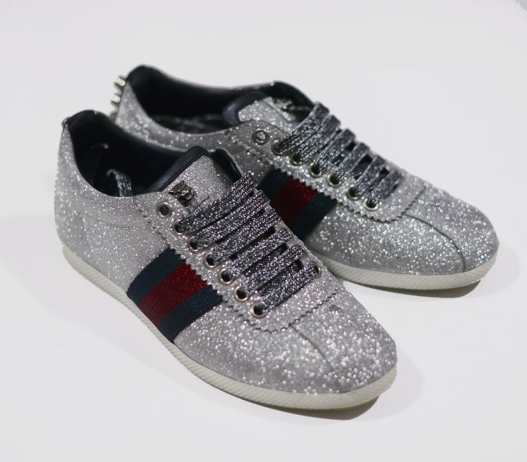 83f205649 Gucci Glitter Sneakers, Women's Fashion, Shoes, Sneakers on Carousell