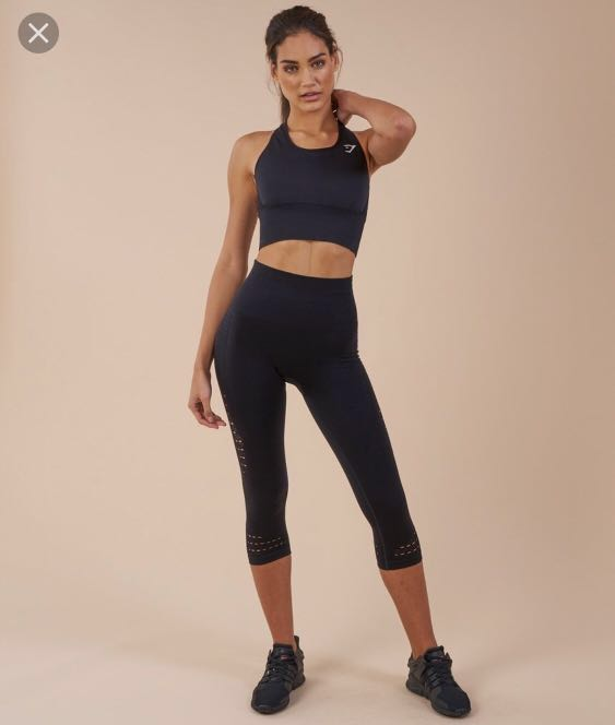 a596bea1d536a8 GYMSHARK SEAMLESS ENERGY HIGH WAISTED CROPPED LEGGINGS, Sports ...