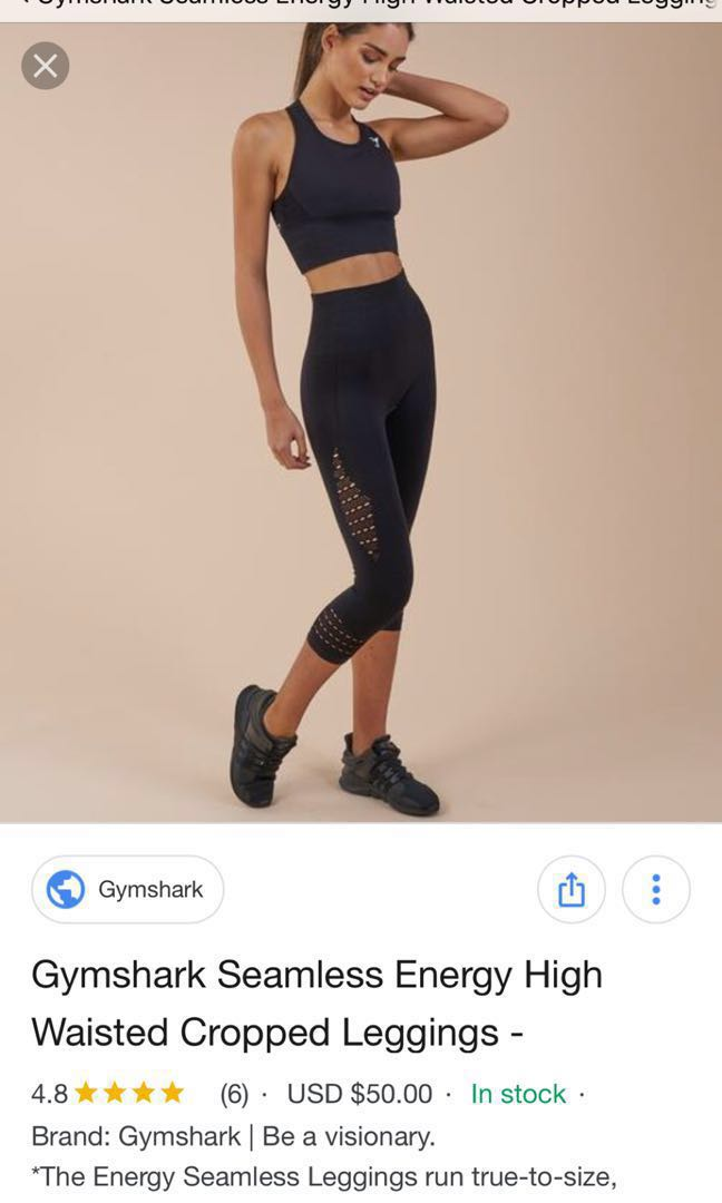 783eb72f6c279 GYMSHARK SEAMLESS ENERGY HIGH WAISTED CROPPED LEGGINGS, Sports, Sports  Apparel on Carousell