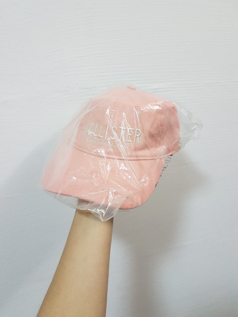 ecb1a22216822 Hollister California Baseball Cap in Baby Pink