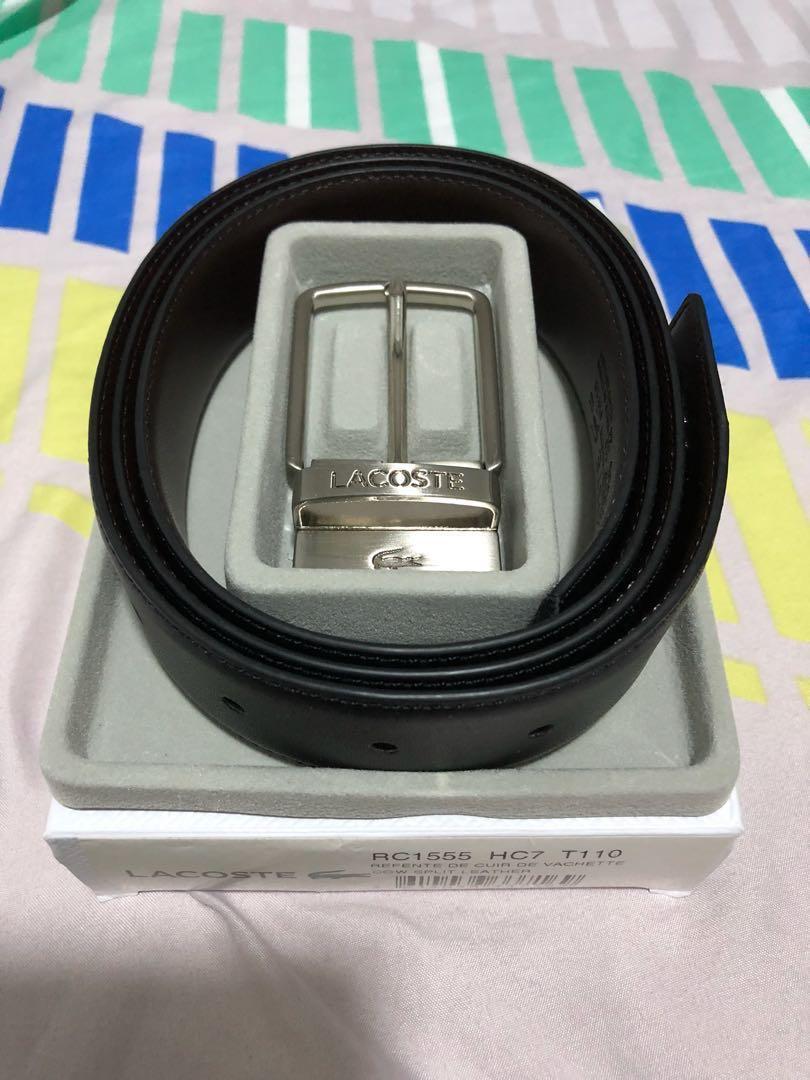 fb7413d3ccfb Lacoste reversible geniune leather belt
