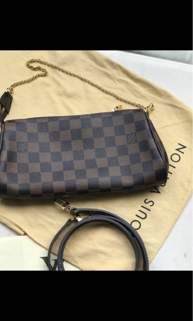 f56a64ed77fb Louis Vuitton Eva Clutch Damier Ebene comes with lv receipt  dustbag ...