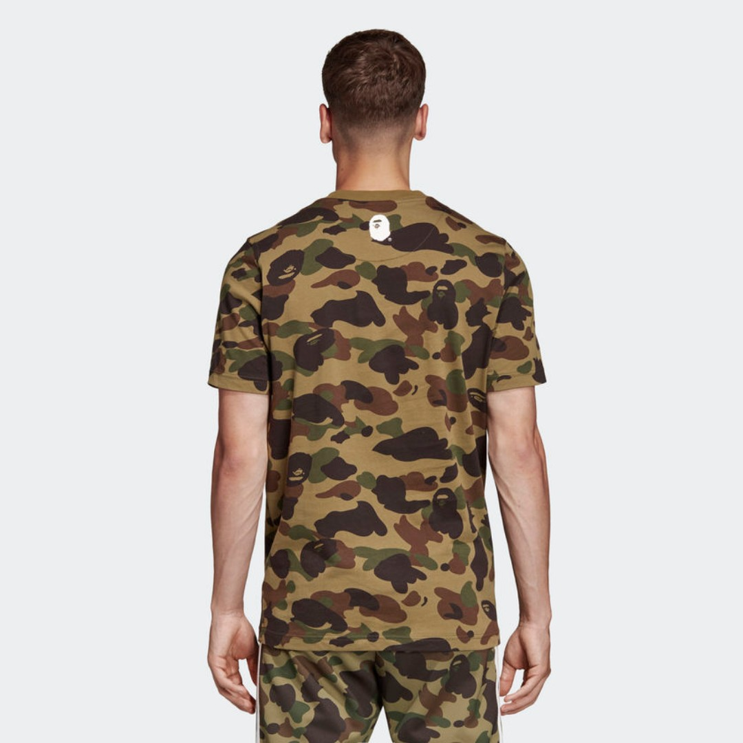 8f968779f Medium Bape x Adidas Tee Green Camo, Men's Fashion, Clothes, Tops on  Carousell