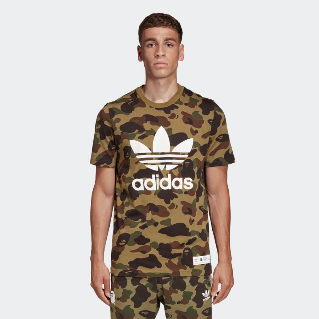 91c147be8 Medium Bape x Adidas Tee Green Camo, Men's Fashion, Clothes, Tops on ...