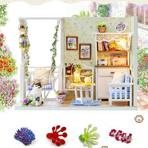 Miniatur Rumah Boneka 3D DIY 1 24 7d542674b5