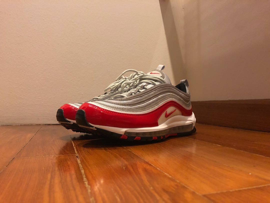 the latest e96bf 45b3c Nike Air Max 97 Red Patent Leather, Men's Fashion, Footwear ...