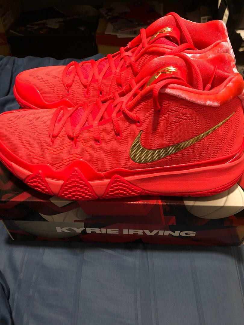 official photos b537a 9b6ea Nike Kyrie 4 red carpet, Men's Fashion, Footwear, Sneakers on Carousell