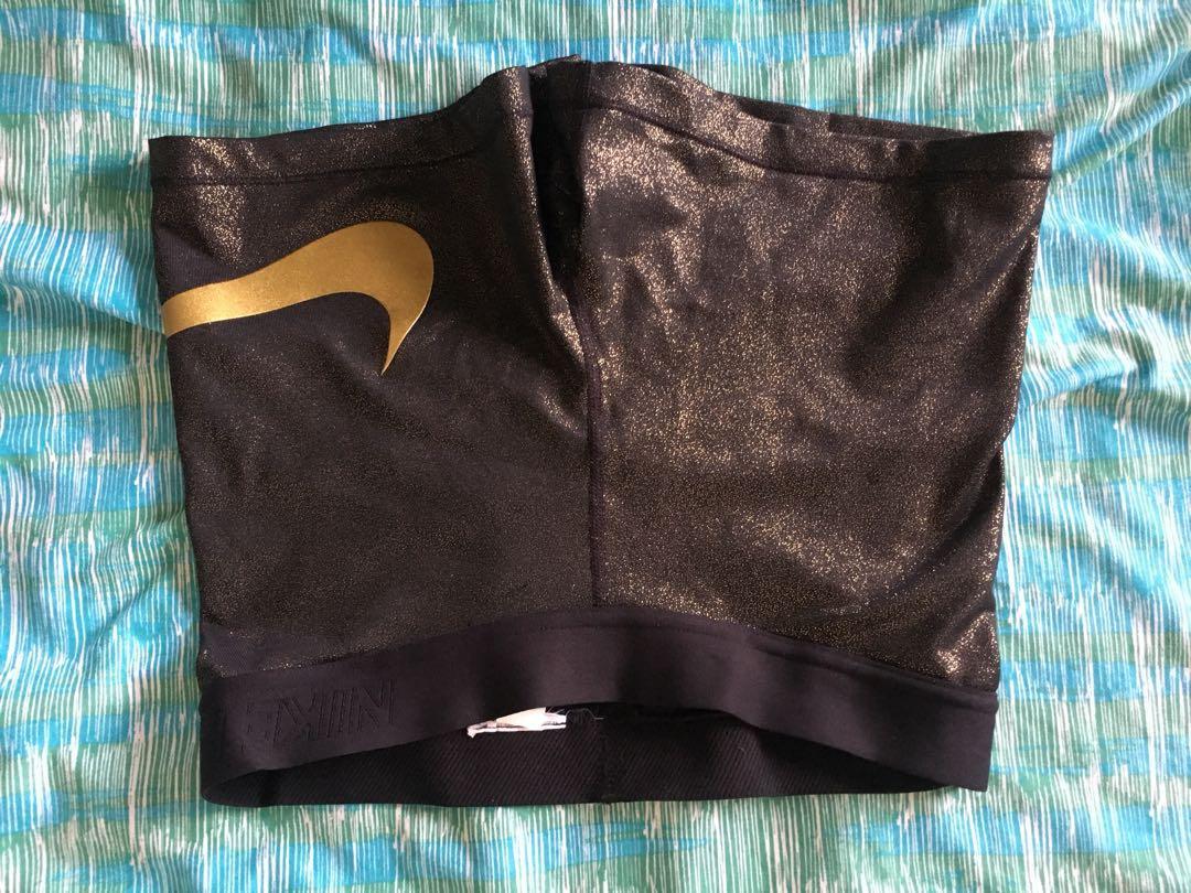 Nike pro metallic gold shorts new without tags Medium