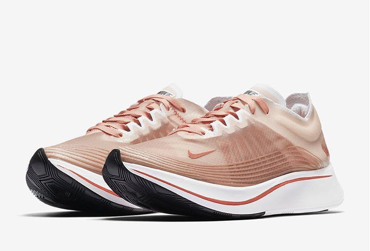 55b8bb386e504 Nike Zoom Fly Teardrop Rose Gold
