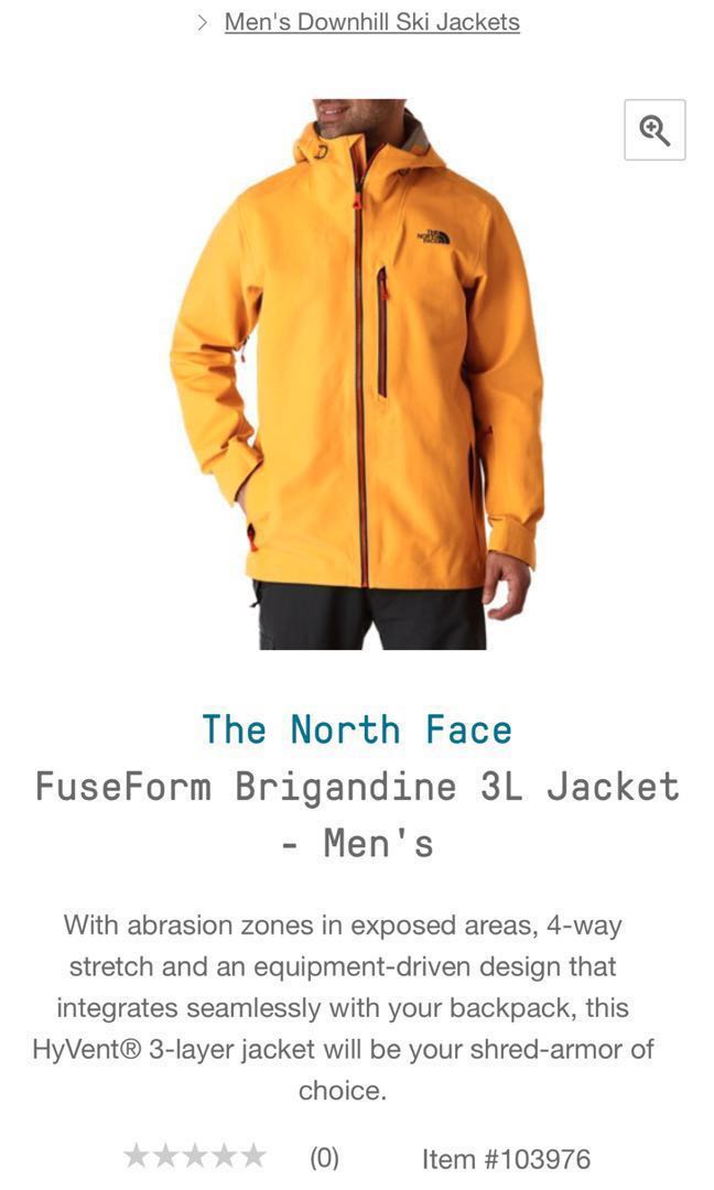 6ee55fb42 North Face FuseForm Brigandine 3L Men jacket for ski and snow sports ...