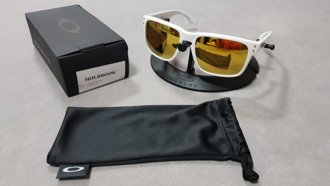 45beb57273 Oakley holbrook asian fit oo9244-14 polishes white frame 24k iridium ...