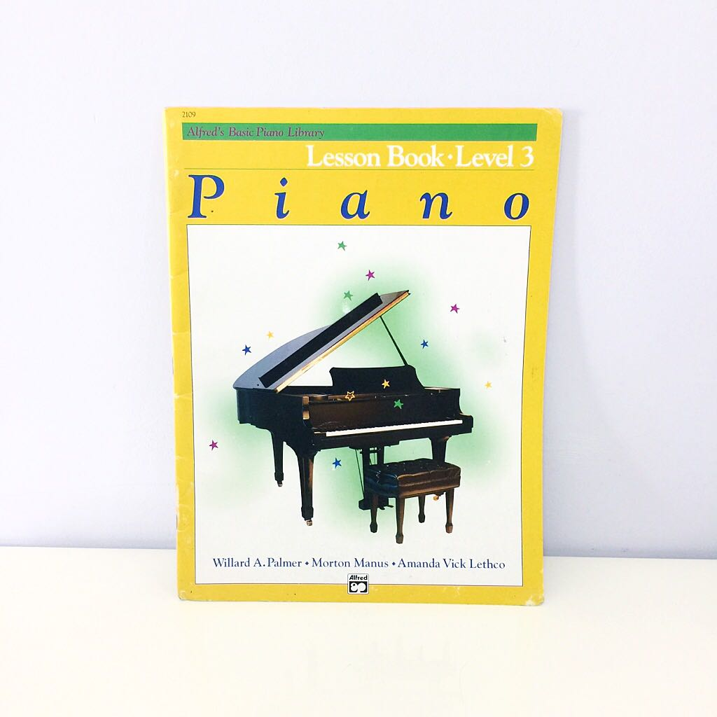 Piano Lesson Book Level 3 by Alfred