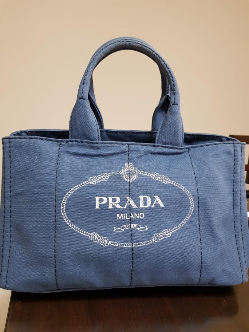 570aea5d2ade Prada denim tote bag, Luxury, Bags & Wallets, Handbags on Carousell