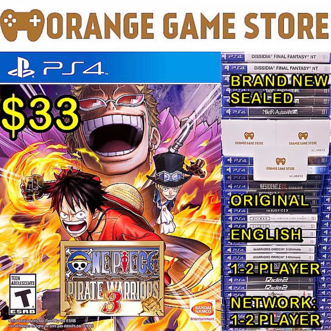 Ps4 One Piece Pirate Warriors 3 Toys Games Video Gaming Bravo Team Vr Aim Controller Region English On Carousell