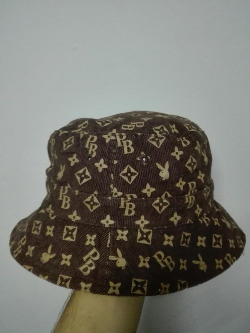 40ea4400f530f Rare !! Play Boy Bucket Hat - LV design style !