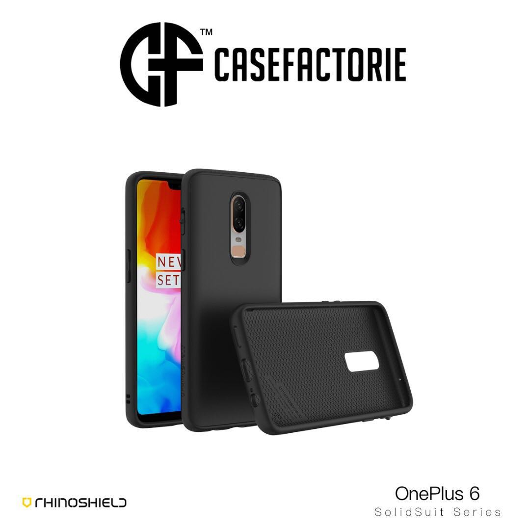 half off 8450b a6a6a RhinoShield SolidSuit Case For OnePlus 6