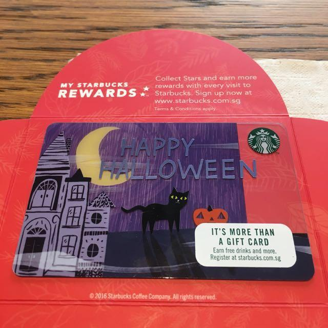 Singapore Halloween Starbucks Card 2017 Limited Edition