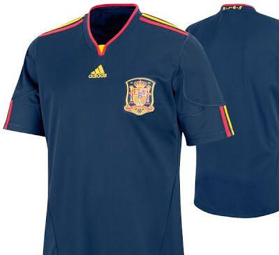 Spain World Cup 2010 Away Jersey L Size